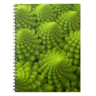 Romanesco Broccoli Fractal Vegetable Notebooks