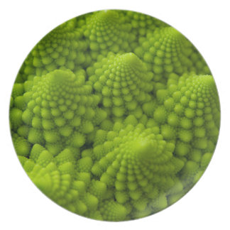 Romanesco Broccoli Fractal Vegetable Plates