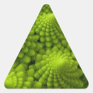 Romanesco Broccoli Fractal Vegetable Triangle Sticker