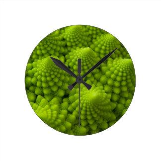 Romanesco Broccoli Fractal Vegetable Wall Clock