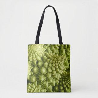Romanesco broccoli vegetable close up tote bag