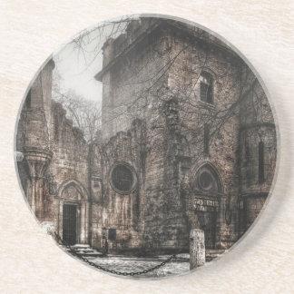 Romanescu castle drink coaster