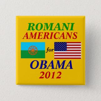 Romani americans for Obama 2 Inch Square Button