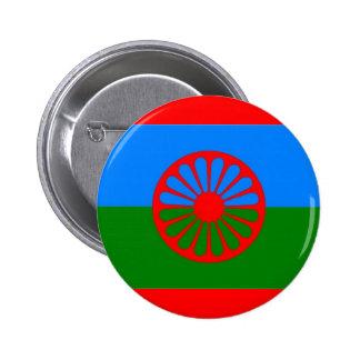 ROMANI FLAG 2 INCH ROUND BUTTON