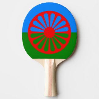 Romani Flag Ping Pong Racket Ping Pong Paddle