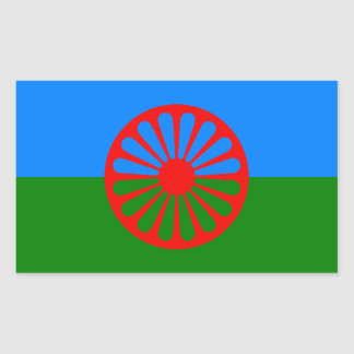 Romani Flag Stickers