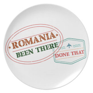 Romania Been There Done That Plate
