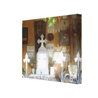 Romania,  Brasov Orthodox cemetery Canvas Print