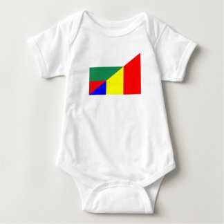 romania bulgaria flag country half symbol baby bodysuit