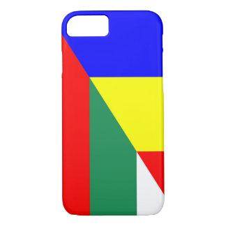 romania bulgaria flag country half symbol iPhone 8/7 case