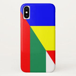 romania bulgaria flag country half symbol iPhone x case