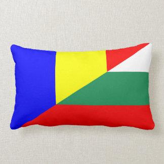 romania bulgaria flag country half symbol lumbar pillow