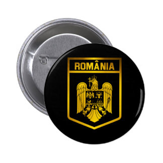Romania Emblem 2 Inch Round Button