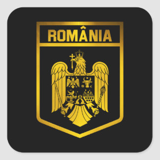 Romania Emblem Square Sticker