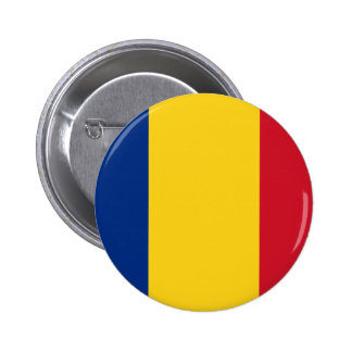 Romania flag 2 inch round button