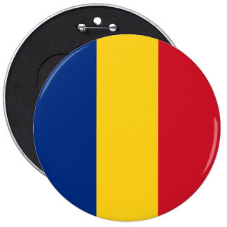 Romania Flag 6 Inch Round Button