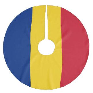 Romania Flag Brushed Polyester Tree Skirt