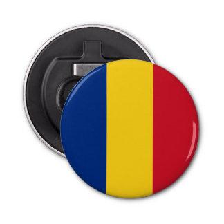 Romania Flag Button Bottle Opener