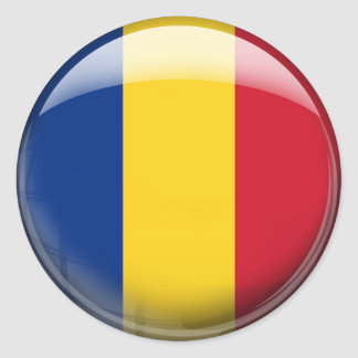 Romania Flag Classic Round Sticker