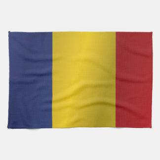 Romania flag kitchen towel