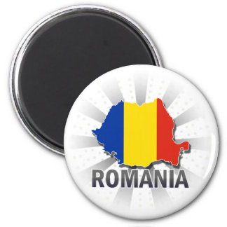 Romania Flag Map 2.0 Magnet