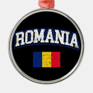 Romania Flag Metal Ornament