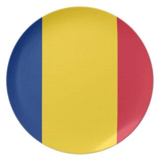 Romania flag plates