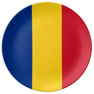 Romania Flag Porcelain Plates