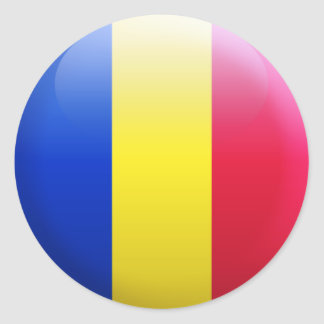 Romania Flag Round Sticker