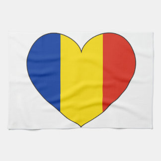 Romania Flag Simple Kitchen Towel