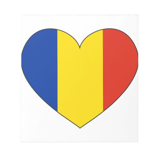 Romania Flag Simple Notepad