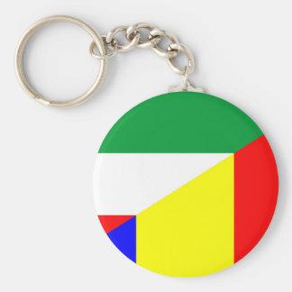 romania hungary flag country half symbol keychain