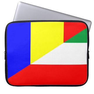 romania hungary flag country half symbol laptop sleeve