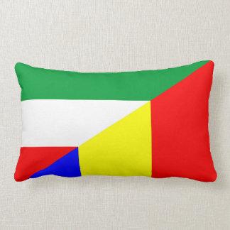 romania hungary flag country half symbol lumbar pillow