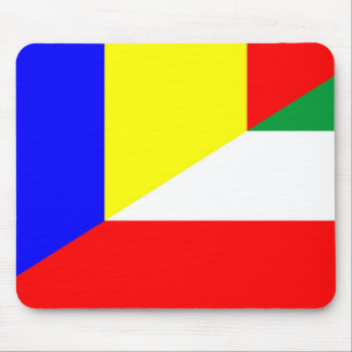 romania hungary flag country half symbol mouse pad