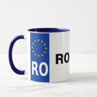 Romania License Plate Mug
