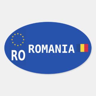 Romania License Plate Oval Sticker