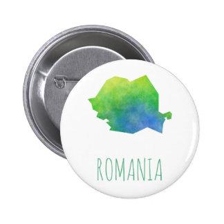 Romania Map 2 Inch Round Button