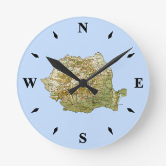 Romania Map Clock