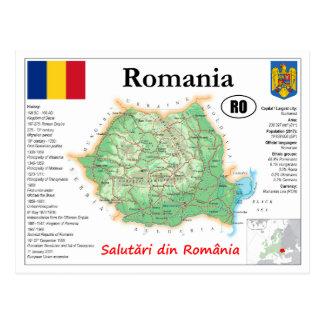 Romania map Postcard