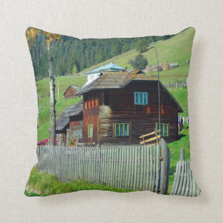 Romania, Moldova, country farm house Throw Pillow
