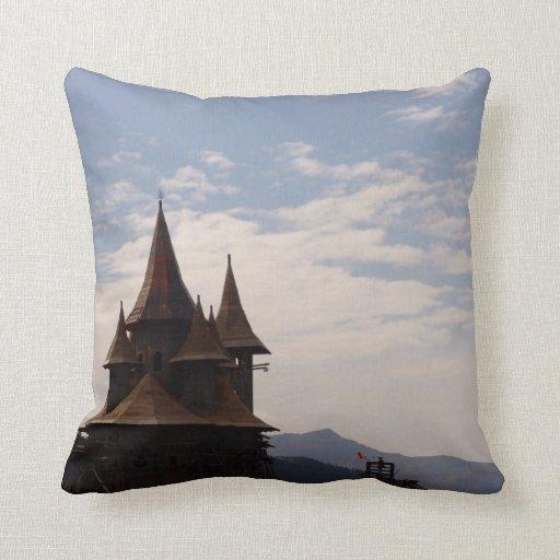 Romania, Moldova, Orthodox church on the hillside Pillows