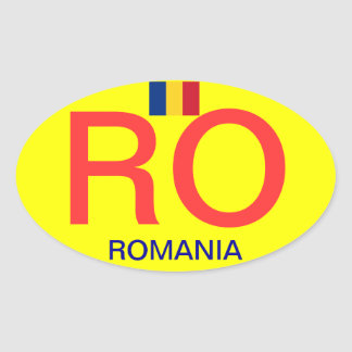 Romania* Oval Bumper Sticker