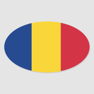 Romania* Oval Flag Sticker  România autocolant