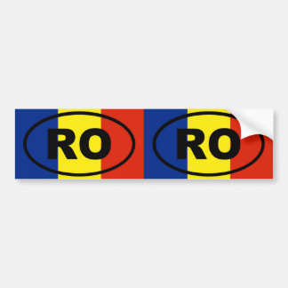 Romania RO European oval Bumper Sticker