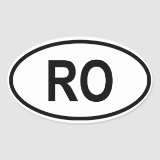 "Romania ""RO"" Oval Sticker"
