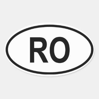 "Romania ""RO"" Stickers"