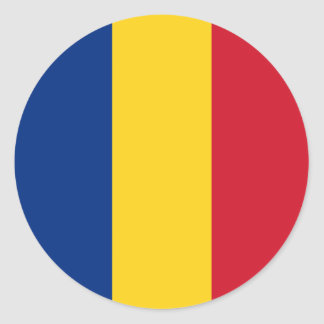 Romania – Romanian Flag Round Sticker