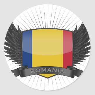 ROMANIA ROUND STICKER
