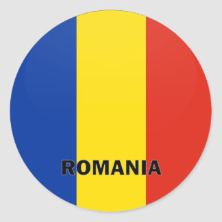 Romania Roundel quality Flag Classic Round Sticker